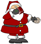 Santa gets cookies and cocoa from technical communication student
